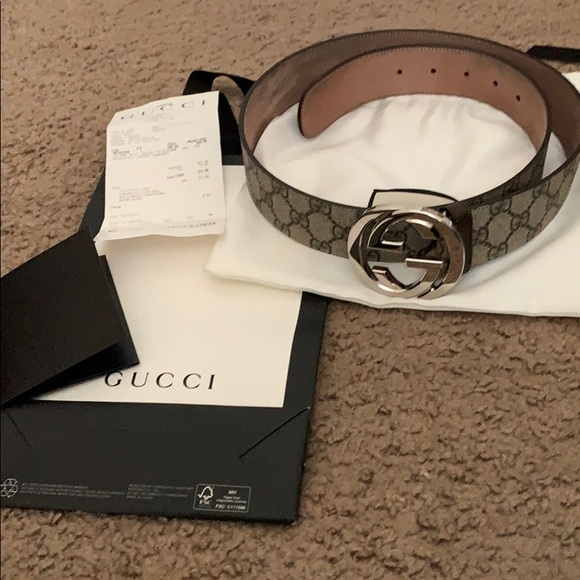 7e165735e14 Gucci Other - Mens Gucci GG Supreme belt with G buckle